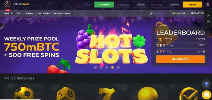 fortunejack slots